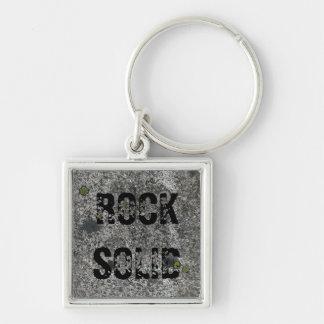Geology Granite Rock Solid Custom Text Keychain