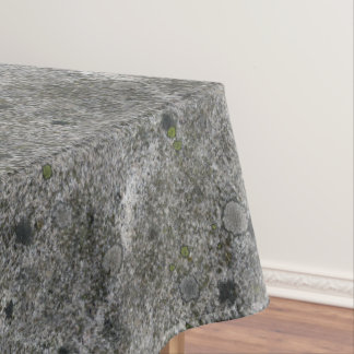 Geology Granite Rock with Green Moss Tablecloth
