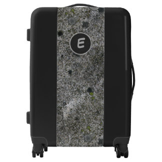 Geology Gray Granite with Moss Details Monogram Luggage