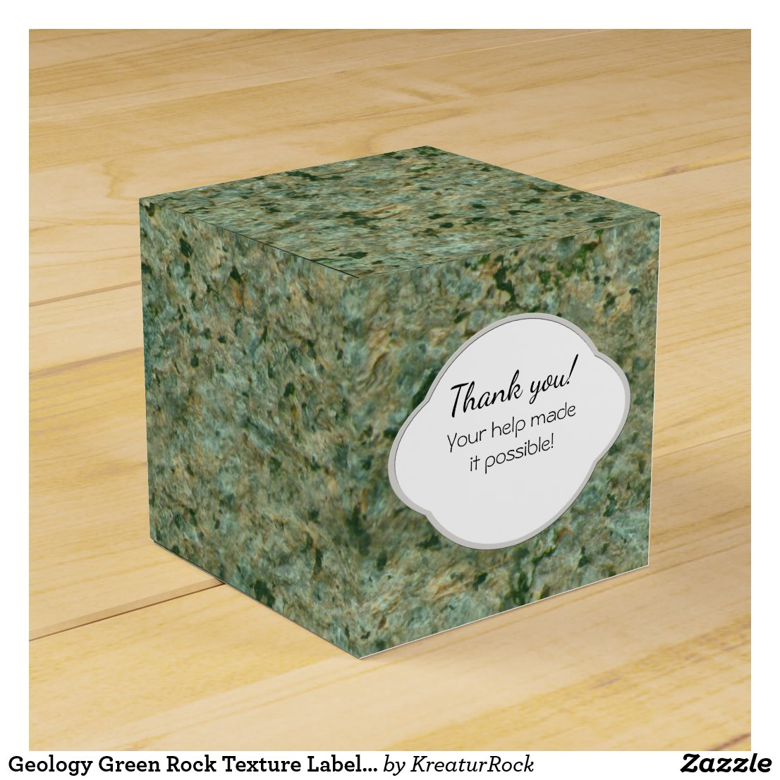Geology Green Rock Texture Label with any Text