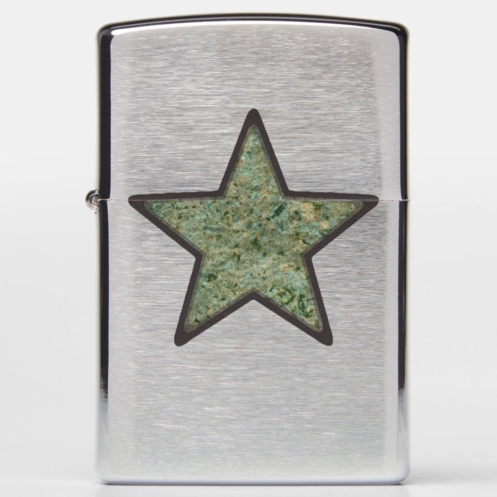 Geology Green Rock Texture Star