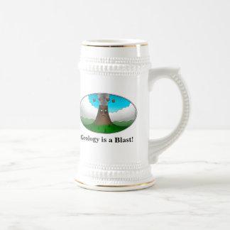 Geology is a Blast!  Cartoon Volcano 18 Oz Beer Stein