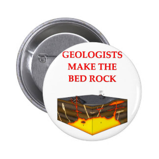 geology joke pinback buttons