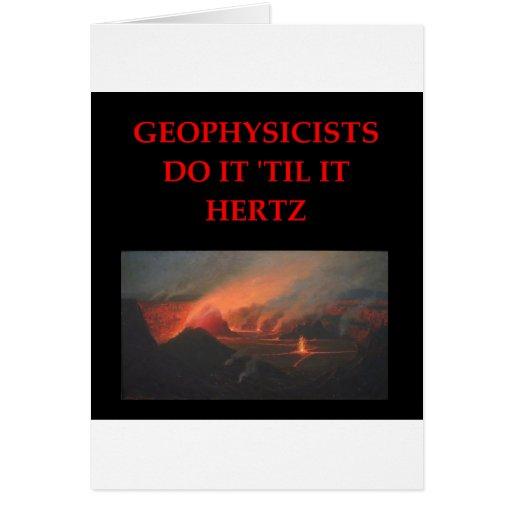 geology joke greeting card