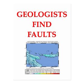 geology joke postcard