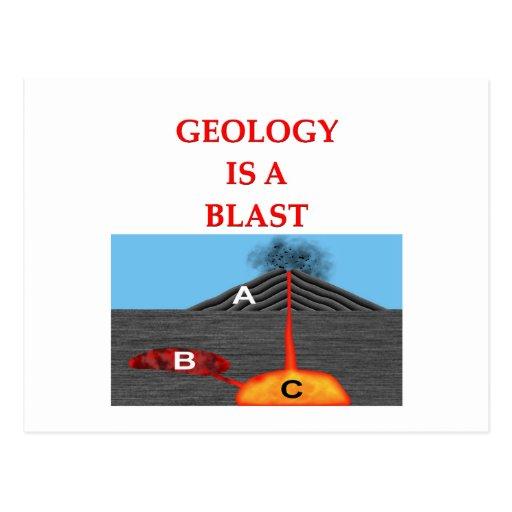 geology joke post cards