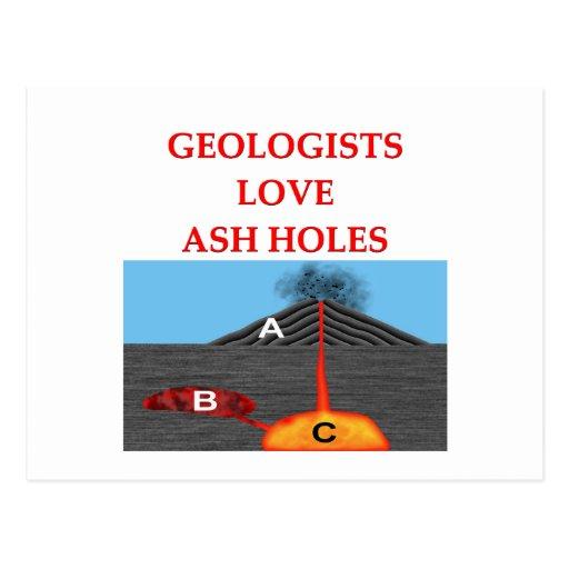 geology joke post card