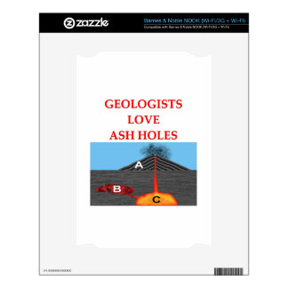 geology joke decal for the NOOK