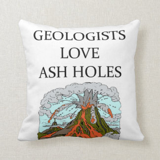 Geology joke throw pillow
