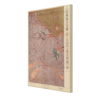 Geology Map, Yellowstone National Part, Wyoming 2 Canvas Print