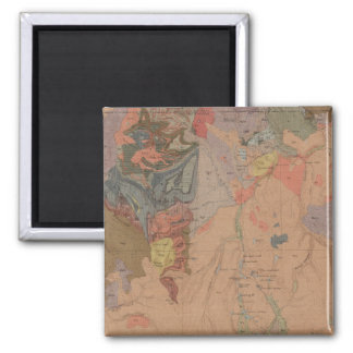 Geology Map, Yellowstone National Part, Wyoming 2 Inch Square Magnet