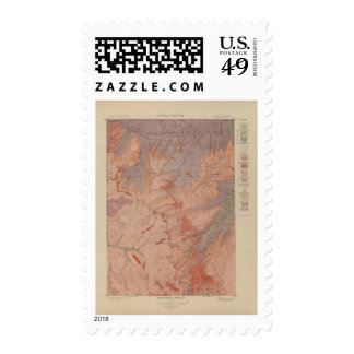 Geology Map, Yellowstone National Part, Wyoming 2 Stamp
