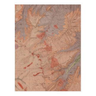 Geology Map, Yellowstone National Part, Wyoming 2 Postcard