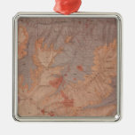 Geology Map, Yellowstone National Part, Wyoming 2 Square Metal Christmas Ornament