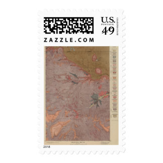 Geology Map, Yellowstone National Part, Wyoming 3 Stamps