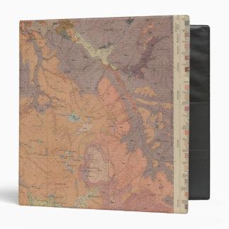 Geology Map, Yellowstone National Part, Wyoming 3 Ring Binder