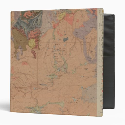 Geology Map, Yellowstone National Part, Wyoming Vinyl Binder