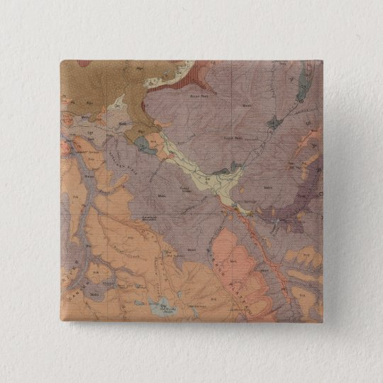 Geology Map, Yellowstone National Part, Wyoming Button