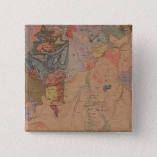 Geology Map, Yellowstone National Part, Wyoming Pinback Button