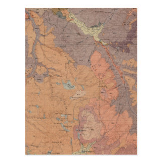 Geology Map, Yellowstone National Part, Wyoming Postcard
