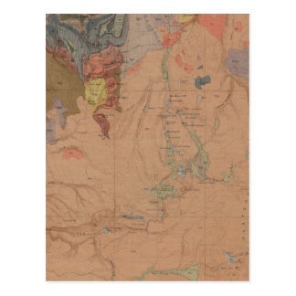 Geology Map, Yellowstone National Part, Wyoming Postcard