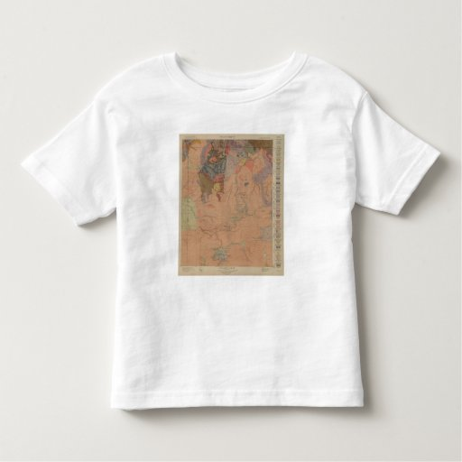 Geology Map, Yellowstone National Part, Wyoming Toddler T-shirt