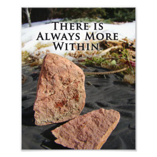 Geology Nature Cracked Stone Inspirational Quote Photo Print