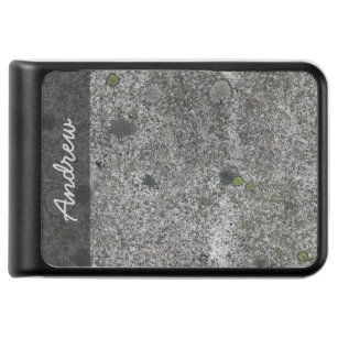 Geology Nature Granite Rock with Moss any Text Power Bank