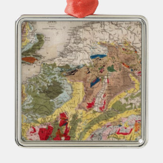 Geology of Europe Metal Ornament