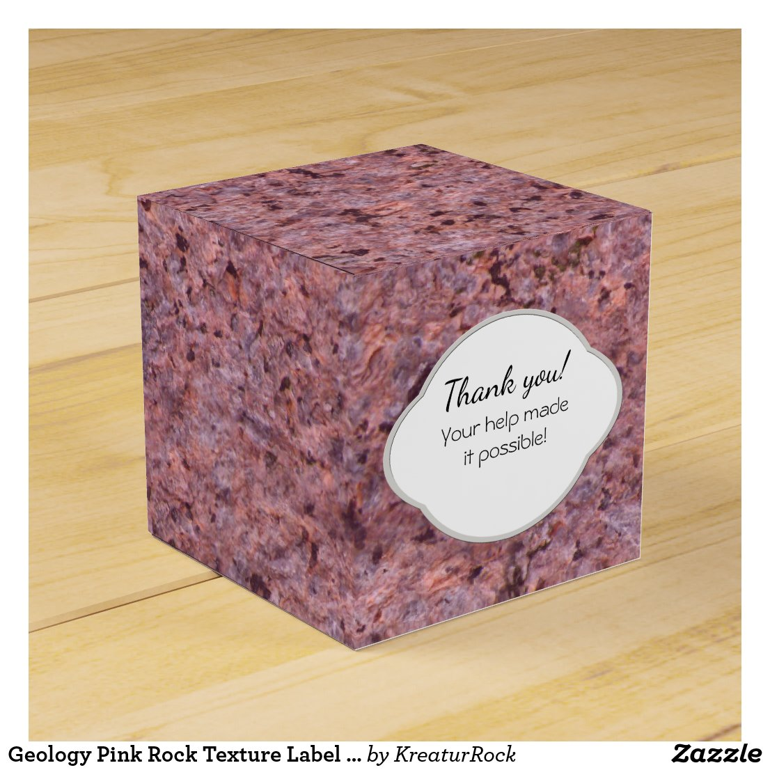 Geology Pink Rock Texture Label with any Text