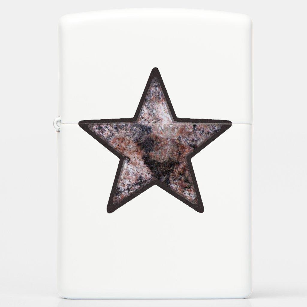 Geology Pinkish Rock Texture Star