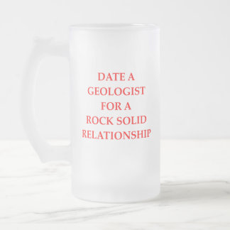geology poster frosted glass beer mug