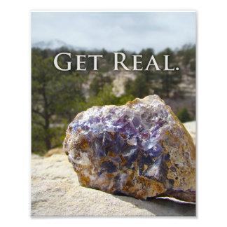 Geology Quote Purple Fluorite Simple Art Print Photo Print