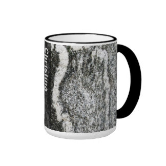 Geology Rock Texture with any Name Ringer Mug