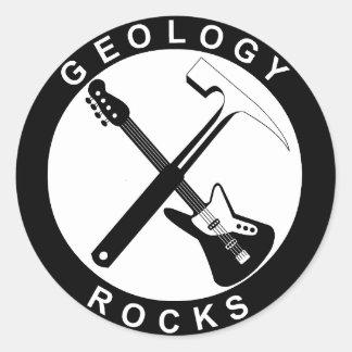 Geology Rocks Adhesive Classic Round Sticker