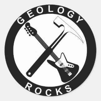 Geology Rocks Adhesive Round Large Classic Round Sticker