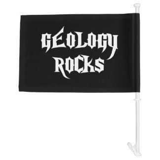 Geology Rocks Car Flag