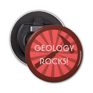 Geology Rocks! Hammer Badge Bottle Opener