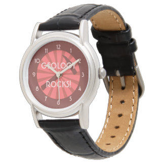 Geology Rocks! Hammer Badge Wristwatch