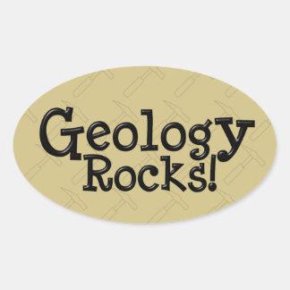 Geology Rocks! Oval Sticker