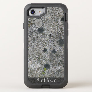 Geology Rough Granite Rock Texture Name OtterBox Defender iPhone 7 Case