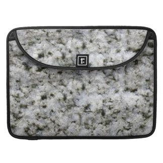 Geology Rough Rock Texture White Granite MacBook Pro Sleeve