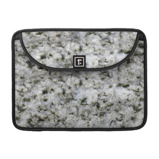 Geology Rough Rock Texture White Granite Sleeve For MacBooks