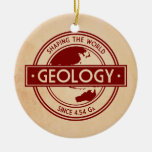 Geology- Shaping the World Logo (Asia/Australia) Double-Sided Ceramic Round Christmas Ornament