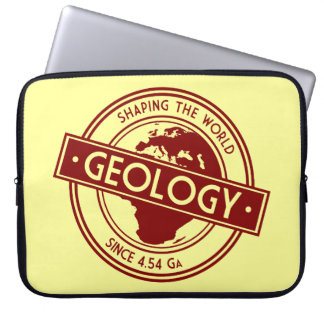 Geology- Shaping the World Logo (Europe) Computer Sleeve