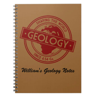Geology- Shaping the World Logo (Europe) Spiral Notebook