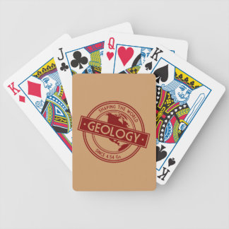 Geology- Shaping the World Logo (North America) Bicycle Playing Cards