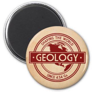 Geology- Shaping the World Logo (North America) Fridge Magnet