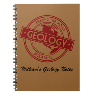 Geology- Shaping the World Logo (North America) Spiral Note Book