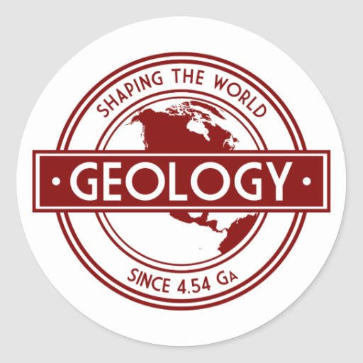 Geology- Shaping the World Logo (North America) Stickers